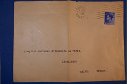 315 GRANDE BRETAGNE LETTRE 1937 POUR LEVALLOIS FRANCE - Briefe U. Dokumente