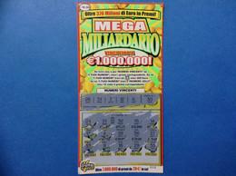ITALIA BIGLIETTO LOTTERIA GRATTA E VINCI USATO € 10,00 MEGA MILIARDARIO LOTTERY TICKET - Billetes De Lotería