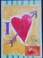 Tarjeta Máxima FRANCIA 2001 - OUI I Love You - 2000-09