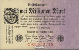 Deutsches Reich Rosenbg: 102a, Reichsdruckerei Gebraucht (III) 1923 2 Millionen Mark - 2 Millionen Mark