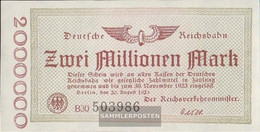 Berlin Pick-number: S1012c Inflationsgeld The German Reichsbahn Berlin Used (III) 1923 2 Million Mark - 2 Millionen Mark