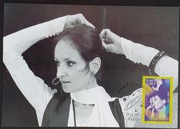 Tarjeta Máxima FRANCIA 2001 - FAMOUS ARTIST Barbara - 2000-09
