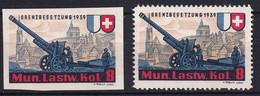 Artillerie 71/1 Und 71/2 Ungestempelt/* - Viñetas