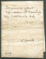 LAC DeBRUGGEle 5 Mars 1642 + Man. «port» Vers Gand. -TB - 16406 - 1621-1713 (Países Bajos Españoles)