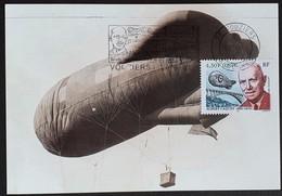 Tarjeta Máxima FRANCIA 2001 - ALBERT COQUOT Ballon - 2000-09
