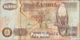 Sambia Pick-Nr: 39b Gebraucht (III) 1992 500 Kwacha - Zambia
