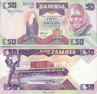 Sambia Pick-Nr: 28a Gebraucht (III) 1988 50 Kwacha - Zambia