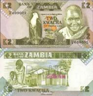 Sambia Pick-Nr: 24c Gebraucht (III) 1986 2 Kwacha - Zambia