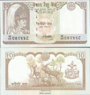 Nepal Pick-Nr: 31b, Signatur 13 Gebraucht (III) 1987 10 Rupees - Nepal