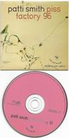 RARE CD PATTI SMITH - PISS FACTORY 96 - GALERIE DU JOUR - AGNES B. + Insert - Edizioni Limitate