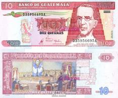 Guatemala Pick-Nr: 101 Gebraucht (III) 1998 10 Quetzales - Guatemala
