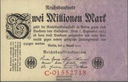 German Empire Rosenbg: 102a, Empire Printing Used (III) 1923 2 Million Mark - 2 Millionen Mark