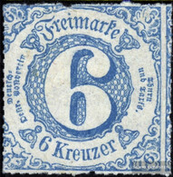 Thurn And Taxis 43IA, Type IA, Normal T With Hinge 1865 Paragraph - Tour Et Taxis