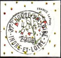 Oblitération Cachet à Date Sur Autoadhésif De France N°  149,** Ou 4130_A - Franok Et Sabine. Coeur Saint Valentin 50gr. - Adhesive Stamps