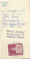 Abschnitt  Roggwil (Bern) - Olten            1975 - Cartas