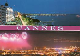 CPM - D - ALPES MARITIMES - CANNES - LA NUIT - FEU D'ARTIFICE - Cannes