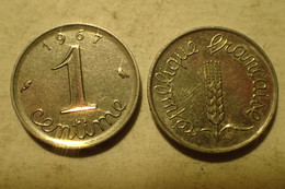 Monnaie France, 1 Centime épi - 1967, SUP - A. 1 Centime