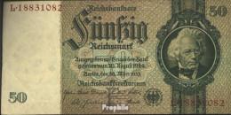 Deutsches Reich Rosenbg: 175b, Udr.-Bst.: F, Serien: L-P, KN 8-stellig Gebraucht (III) 1933 50 Reichsmark - 50 Reichsmark
