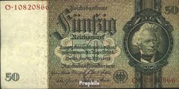 Deutsches Reich Rosenbg: 175b, Udr.-Bst.: C, Serien: L-P, KN 8-stellig Gebraucht (III) 1933 50 Reichsmark - 50 Reichsmark