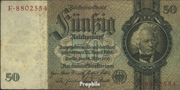 Deutsches Reich Rosenbg: 175a, Udr.-Bst.: O, Serien: A-P, KN 7-stellig Gebraucht (III) 1933 50 Reichsmark - 50 Reichsmark