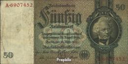 Deutsches Reich Rosenbg: 175a, Udr.-Bst.: M, Serien: A-P, KN 7-stellig Gebraucht (III) 1933 50 Reichsmark - 50 Reichsmark
