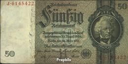 Deutsches Reich Rosenbg: 175a, Udr.-Bst.: H, Serien: A-P, KN 7-stellig Gebraucht (III) 1933 50 Reichsmark - 50 Reichsmark
