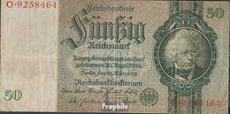 Deutsches Reich Rosenbg: 175a, Udr.-Bst.: B, Serien: A-P, KN 7-stellig Gebraucht (III) 1933 50 Reichsmark - 50 Reichsmark
