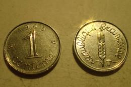 Monnaie France, 1 Centime épi - 1965, B - A. 1 Centime