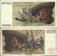 FRD (FR.Germany) Rosenbg: 254, 3stellige Blockziffer, Called. Franzosenschein Used (III) 1948 50 German Mark - 50 Deutsche Mark