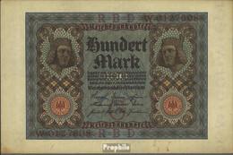 Deutsches Reich Rosenbg: 67a, 7stellige Kontrollnummer Gebraucht (III) 1920 100 Mark - 100 Mark