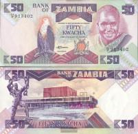 Sambia Pick-number: 28a Used (III) 1988 50 Kwacha - Zambia