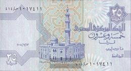 Egypt Pick-number: 57 (13.7.2008) Signature 22 Used (III) 2008 25 Piastres - Egipto
