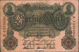 Deutsches Reich Rosenbg: 42 Gebraucht (III) 1910 50 Mark - 50 Mark