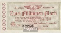 Berlin Pick-Nr: S1012b Inflationsgeld Der Deutschen Reichsbahn Berlin Gebraucht (III) 1923 2 Millionen Mark - 2 Millionen Mark