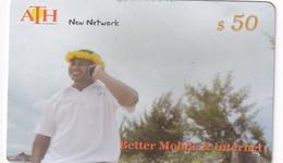 KIRIBATI - Man On Phone, ATH Recharge Card $50, Used - Kiribati