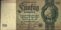 German Empire Rosenbg: 175b, Udr.-Bst.: F, Series: L-P, KN 8-stellig Used (III) 1933 50 Reichsmark - 50 Reichsmark