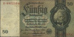 German Empire Rosenbg: 175a, Udr.-Bst.: O, Series: A-P, KN 7-stellig Used (III) 1933 50 Reichsmark - 50 Reichsmark