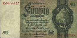 German Empire Rosenbg: 175a, Udr.-Bst.: I, Series: V-Z, KN 7-stellig Used (III) 1933 50 Reichsmark - 50 Reichsmark