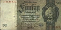 German Empire Rosenbg: 175a, Udr.-Bst.: H, Series: A-P, KN 7-stellig Used (III) 1933 50 Reichsmark - 50 Reichsmark