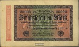 German Empire Rosenbg: 84h, Watermark Dornen Used (III) 1923 20.000 Mark - 20000 Mark