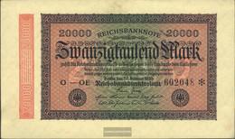 German Empire Rosenbg: 84g, Watermark Grid With 8 Used (III) 1923 20.000 Mark - 20000 Mark