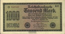 German Empire Rosenbg: 75i, Watermark Mäander Brown Kontrollnummer Used (III) 1922 1.000 Mark - 1000 Mark