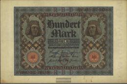 German Empire Rosenbg: 67a, 7stellige Kontrollnummer Used (III) 1920 100 Mark - 100 Mark