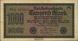 German Empire Rosenbg: 75k, Watermark Cabbage 6stellige Kontrollnummer Used (III) 1922 1.000 Mark - 1000 Mark