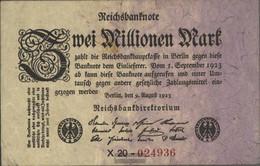 German Empire Rosenbg: 102b, Privatfirmendruck Black Firmenzeichen Used (III) 1923 2 Million Mark - 2 Millionen Mark