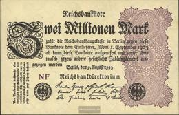 German Empire Rosenbg: 103d, Watermark Grid With 8 Used (III) 1923 2 Million Mark - 2 Millionen Mark
