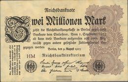 German Empire Rosenbg: 103a, Watermark Hakensterne Used (III) 1923 2 Million Mark - 2 Millionen Mark