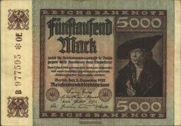 German Empire Rosenbg: 80e, Watermark Mäander Used (III) 1922 5.000 Mark - Zonder Classificatie