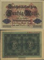 German Empire Rosenbg: 50b, 7stellige Kontrollnummer Used (III) 1914 50 Mark - 50 Mark