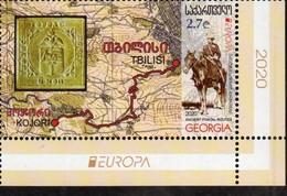 """GEORGIA /GEORGIEN / GÉORGIE  -EUROPA 2020 -""""ANTIGUAS RUTAS POSTALES -ANCIENT POSTAL ROUTES""""- SERIE De 1 V. - CH- INF - 2020"""